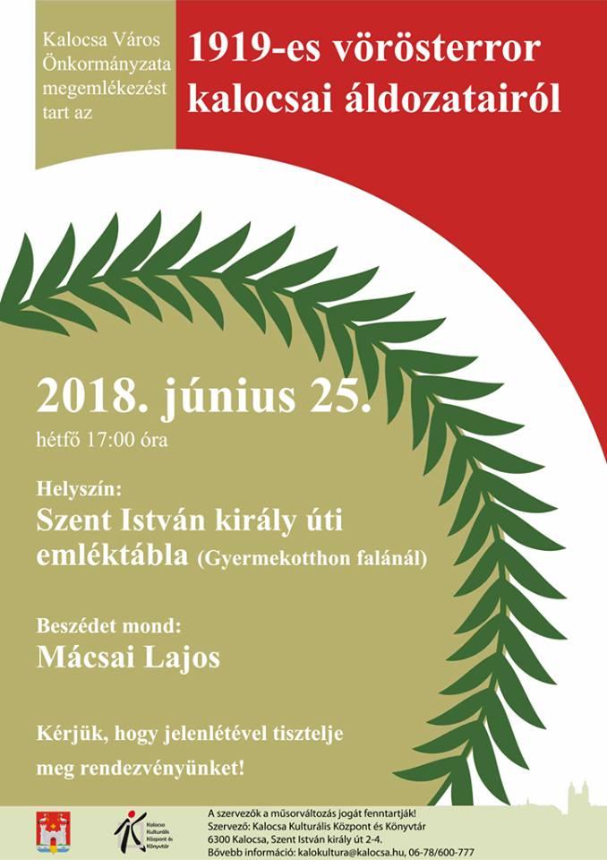Kalocsa,2018.VI.25 XV plakát